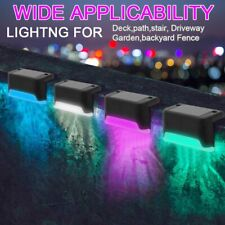 12x LED Solarleuchten Wandlampen Zaunleuchte Gartenleuchte Außen Treppen Lampe