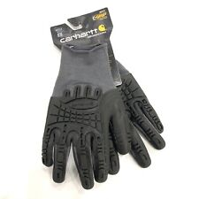 CARHARTT Mens C Grip A612 Large Gray Black Coated Work Gloves Seamless Rubber