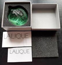Vintage Lalique Green Turtle Figure 1214500 Motif Tortue Sidonie Vert. Gift Idea
