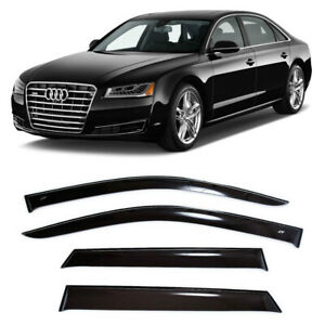 For Audi A8 (D4) Sd 2010-2017 Window Visors Side Rain Sun Guard Vent Deflectors