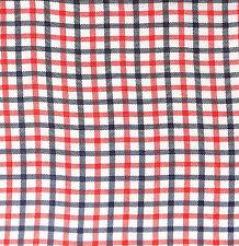 Vintage Red, White & Blue Plaid Feedsack Feed Sack