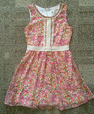 Girls Size 10 Rachael & Chloe Kids Pink Floral Sleeveless Dress GLD013-C474