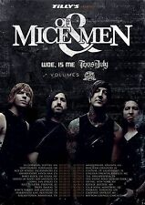 Of Mice & Men / Woe Is Me 2013 North America Concert Tour Poster-Metalcore Music