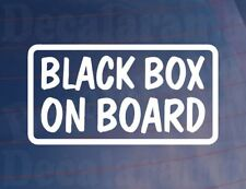 BLACK BOX ON BOARD Funny/Novelty New/Young Driver Car/Window/Bumper Sticker
