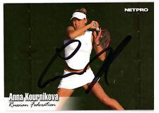 ANNA KOURNIKOVA HOT TENNIS SIGNED CARD AUTOGRAPHED
