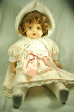 "Vintage 1930s-40s Composition & Cloth 21"" Tall Horsman Doll"