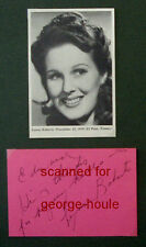 LYNNE ROBERTS - AUTOGRAPH - 1970 - BILLY THE KID - DICK TRACY - ZANE GREY