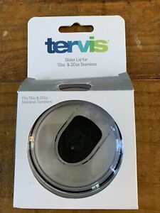 TERVIS Replacement Lid, Clear Slider Lid for Stainless Steel 12oz or 20oz NEW