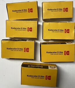 Lot of 7 Kodacolor II 126-24 Film Cartridges In Factory-Sealed Boxes 1984 Expiry