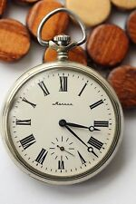 MOLNIJA TRAIN USSR Vintage pocket watch OPEN FACE  3602