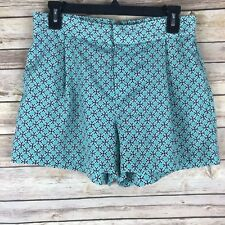 Joe Fresh Womens Shorts Woven Pleated Front Relaxed Fit Elastic Waist Printed 4