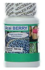 Pure Acai Berry Fat Burner Weight Loss Detox Dieting 1000mg   nutrition arsenal