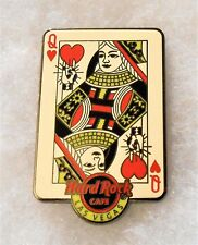 HARD ROCK CAFE LAS VEGAS STRIP QUEEN OF HEARTS PLAYING CARD PIN