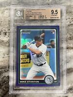 2010 Giancarlo Mike Stanton Bowman Chrome Purple Refractor RC- BGS 9.5 Gem Mint