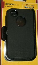 Otterbox Defender case + holster belt clip for iPhone 4/4s, Black, New in Box