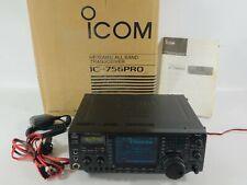 Icom IC-756PRO HF 50MHz All Band Ham Radio Transceiver (works great) SN 4119