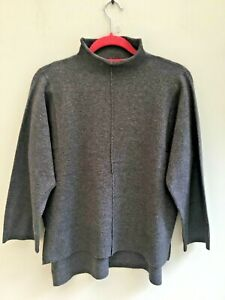 FRENCH CONNECTION JUMPER SIZE 8/10 SMALL BOX STYLE CHARCOAL GREY ORP £75 BNWT