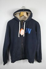 SHERPA Jack Wills Womens Hoodie Size 12 Slim ZIPPER WARM Hooded Sweater P41