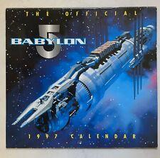 The Official Babylon 5 1997 Calendar Preowned