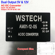Dual Output 5V &12V AC-DC Converter Compact Mini Power Supply Module/Board
