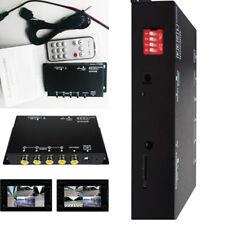 360° 4 Channel Video Multiplexer Recorder Car Camera DVR Split Image Separator