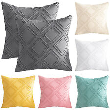 """Anminy 2Pcs Throw Pillow Case Cover for Couch Sofa Bed Cotton Linen Decor 18x18"""""""