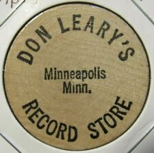 Vintage Don Leary's Record Store Minneapolis, MN Wooden Nickel - Token Minnesota