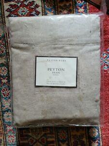 "Pottery Barn Peyton Drape 50"" x 96"" Pole Top Light Tan Packaged"