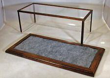 1/24 Scale Walnut Car Display Case  w/Marbled Gray Felt Floor by Oak Hill Crafts