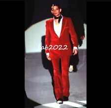 GUCCI Tom Ford 1996 Most Iconic Museum Red Velvet Suit New Never Worn