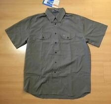 Wilderness Wear Men's Microlite UPF 50  Hiking Shirt Size Small Khaki M803 BNWT