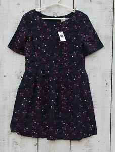 GAP Kids Girls Size Medium (8) Blue Pink Star Dress NEW