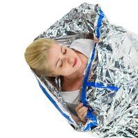 OUTDOOR EMERGENCY BLANKET SLEEPING BAG SURVIVAL HEAT REFLECTIVE SHELTER CAMPING