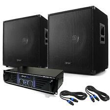 Sono Subwoofer DJ Ampli PA Sono MOSFET 20Hz-20kHz pour Jusqu'à 250 Pers. 1200W