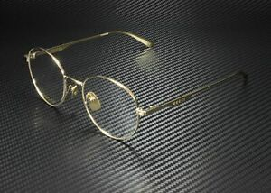 GUCCI GG0337O 008 Round Oval Gold Shiny Gold Demo Lens 53 mm Men's Eyeglasses