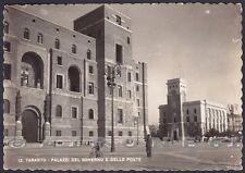 TARANTO CITTÀ 59 POSTE ITALIANE - REGIE POSTE Cartolina FOTOGRAFICA viagg. 1942