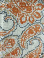 Threshold Home Cal-king Flannel paisley Sheet Set orange gray 100% Cotton bb