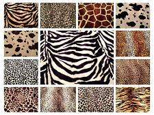 "Animal Print Polyester Velboa Fabric Faux Fur Pony Skin 58"" (145cm) wide Velour"