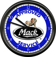 Mack Truck Approved Repair Mechanic Service Bull Dog Advertising Sign Wall Clock
