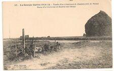 Carte Postale Ancienne CPA Grande Guerre Tombe Lieutenant Zouave Meaux 1914
