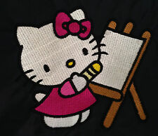 Personalizzata HELLO KITTY painting SCHOOL / PE / Palestra / custodia a coulisse