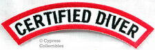 New listing CERTIFIED DIVER CHEVRON SCUBA DIVING iron-on DIVE PATCH embroidered SOUVENIR