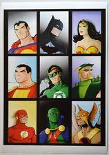 JUSTICE LEAGUE Pin Up Print DC Terry Huddleston art WW Hawkman Shazam Arrow GL