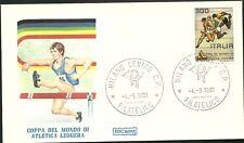 ITALIA BUSTE F.D.C. ROMA  Raccomandata 1981 ATLETICA COPPA MONDO ANNULLO MILANO