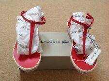 Lacoste Lise Wedge Sandals Pink/Red Size UK 7 EU 40.5