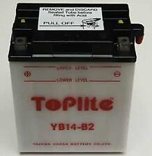 TOPLITE YUASA Motorrad Batterie YB14B2 14AH