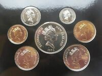 New Zealand Silver Anniversary  1967 1992 7 Unc Proof Coins Set Elizabeth Rare