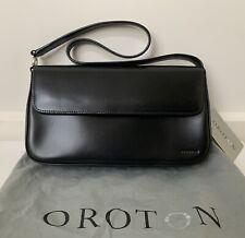 Oroton Black Leather Handbag