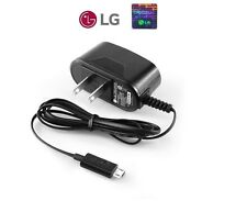 NEW OEM LG Micro USB AC Travel Home Wall Charger Adapter for LG Cell Phones