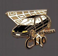 Pin's voiture / Clio Renault (signé Arthus Bertrand) - version noire
